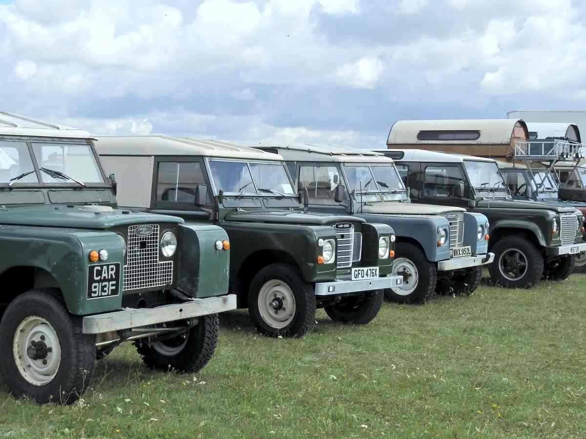 Unmodified Landrovers