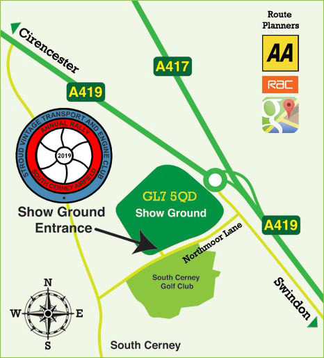 Gloucestershire Vintage And Country Extravaganza location map